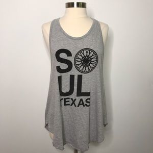 SoulCycle Texas Racerback Tank Top Gray Large L